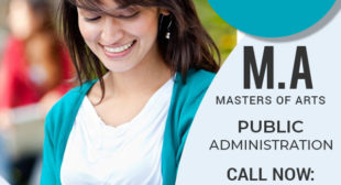 MPA MA Public Administration Master degree Distance Education Learning Admission 2021
