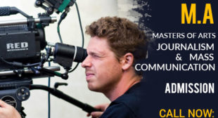 MA in Journalism Mass Communication masters Degree Distance learning Education Admission 2021