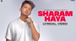 Sharam Haya Lyrics – Karan Randhawa