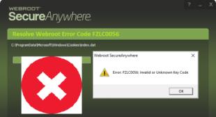 How To Resolve Webroot Error FZLC0056?