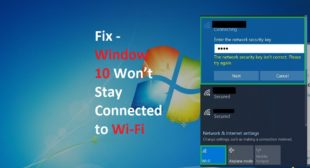 Window Won't Stay Connected to Wi-Fi – Webroot.com/safe