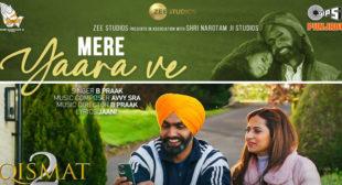 Mere Yaara Ve Lyrics – B Praak