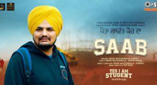 Saab Lyrics – Sidhu Moose Wala